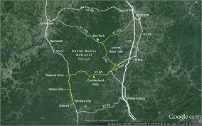 Lake Cumberland Map Ride To Cumberland Falls U2014the Back Way Loop