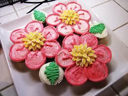 Cupcake Flower Birthday Cake Image Inspiration Of Cake And