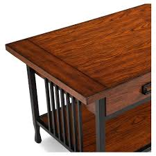 Two Drawer Coffee Table Ironcraft Two Drawer Coffee Table Mission Oak Leick Furniture