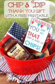 thank you basket for the of food chip and dip thank you basket printable