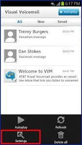visual voicemail for android change the visual voicemail vvm password using the downloadable