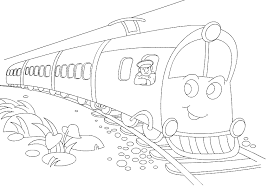 print color train free coloring pages kids