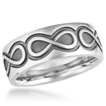 mens infinity wedding band mens infinity symbol wedding bands at krikawa
