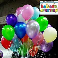 large balloons theme my party metallic plain large balloons multi colour for