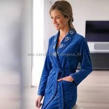 robe de chambre en courtelle courtelle peignoir femme volanté imprimé coton ultra doux