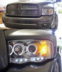 02 dodge ram headlights amazon com 2002 2005 dodge ram 1500 dual halo projector