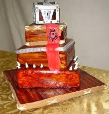 three tier custom unique world of warcraft wedding cake