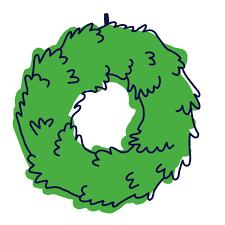 fresh fraser wreath tree elves