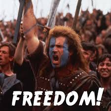 Braveheart Freedom Meme - symbols from reconciliation we are made free freedom