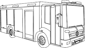 mercedes econic fire truck coloring wecoloringpage