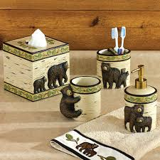 rustic moose u0026 bear bathroom accessories