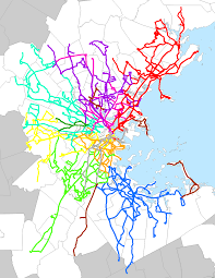 Mbta System Map by Mbta Bus Howlingpixel