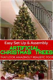 easy to set up and assemble artificial christmas trees that are
