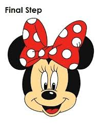 coloring glamorous minie mouse drawing minnie thumb