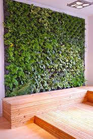 Vertical Garden Indoor - sophisticated brown accent modern sofas and ottoman added beauty