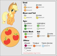 color guide applejack by midnightblitzz on deviantart