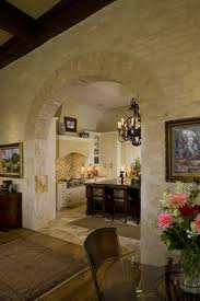 Interior Stone Arches Mediterranean Kitchen With Arch Doorway Simple Marble Counters