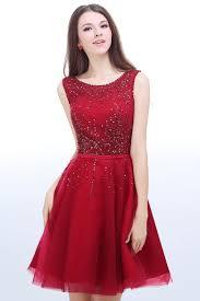 robe en dessous des genoux robe rouge pour fiançailles à paillettes courte au genou