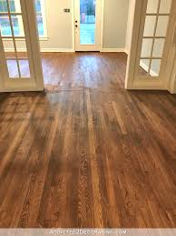 How Much To Get Hardwood Floors Refinished Adventures In Staining My Red Oak Hardwood Floors Products U0026 Process