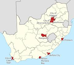 Map Of South Africa by File Map Of The Metropolitan Municipalities Of South Africa 2011