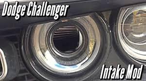 Dodge Challenger Mods - dodge challenger hellcat intake mod youtube