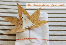 make it thanksgiving place cards cool progeny