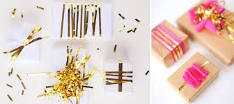 gold gift wrap diy gift wrapping ideas