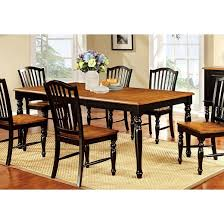 Country Style Dining Room Table Sun U0026 Pine Country Style Dining Table Wood Black And Antique Oak