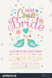 words for bridal shower invitation bridal shower invitation featuring words here stock vector