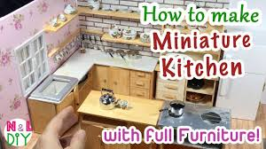 diy miniature kitchen room for dollhouse how to make a miniature diy miniature kitchen room for dollhouse how to make a miniature kitchen with full furniture