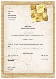 Uk Resume Template Functional Informal Cv For The Uk Joblers