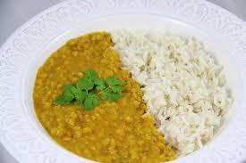 cuisine indienne riz dahl de lentilles corail au lait de coco et riz basmati semi complet
