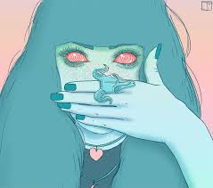 pixel halloween gif background by phazed psychedelia trippy art gif animated eyes