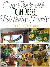 deere tractor themed birthday ideas