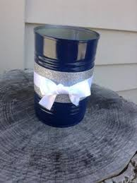 Tin Can Table Decorations Flowers Farmers Anniversaries And Wedding