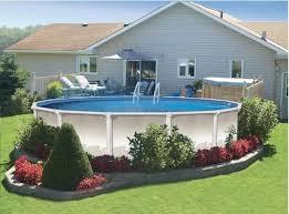 above ground pool deck ideas ground round pool deck ideas