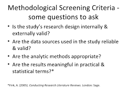 design criteria questions strategies for answering research questions