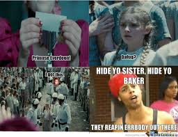 Hunger Games Memes Funny - hunger games reapest reaping scene by thomasthegreat meme center