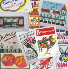 nola ornaments new orleans needlepoint canvases