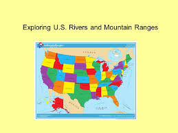 united states map with rivers and mountain ranges exploring u s rivers and mountain ranges a river is a large