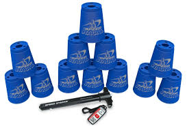 amazon com sport stacking with speed stacks cups cool blue cup