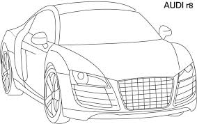 audi car coloring pages nice cute kids niceimages org