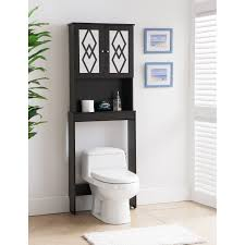 bathroom black over the toilet storage cabinet toilet etagere