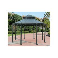 12 X 14 Gazebo Curtains by Exterior Design Brown Wonderful Hardtop Gazebo With Brown