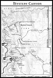 Map Of Utah Parks by Mystery Canyon Zion National Park