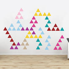 Wall Decals Patterns Color The by Triangle Pattern Wall Stickers Vinyls Triangle Wall And Wall