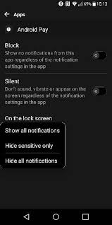 notification settings android notification details on lock screen lg g6 nougat android