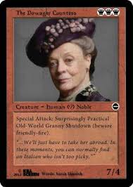Meme Trading Cards - period piece trading cards downton abbey dowager countess and tvs