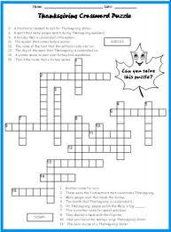 best 25 thanksgiving crossword puzzle ideas on