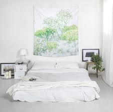 floral wall tapestry home decorating wall art polyester fabric